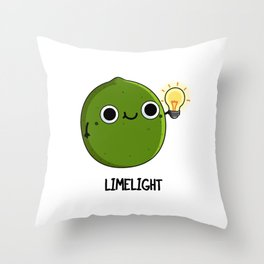 Limelight Cute Lime Pun Throw Pillow