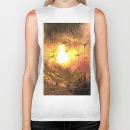 Dandelion Sunrise Wish Biker Tank