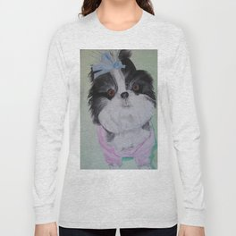 Chloe, painting by Karen Chapman Long Sleeve T-shirt