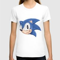 video games T-shirts featuring Triangles Video Games Heroes - Sonic by s2lart