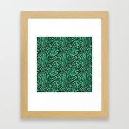 Black and green abstract pattern. Zebra . Framed Art Print