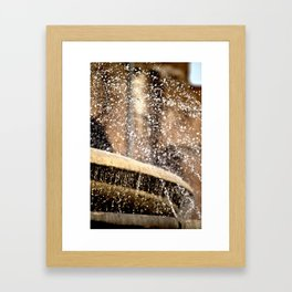 Fountain Spray Framed Art Print