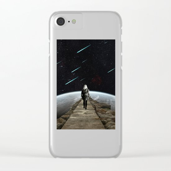 Falling Stars Clear iPhone Case