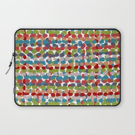 Speckled, Colorful Abstract Dot Pattern, Red, Blue, Green, Orange Laptop Sleeve