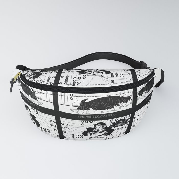 Singularity Android Art Nouveau Fanny Pack