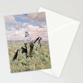 The Unknown Rider in Death Rides The Pecos Stationery Cards