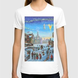 """A Christmas Carol """"Scrooge and the ghost of Christmas past"""" T-shirt"""
