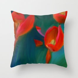 Tulips in May Throw Pillow