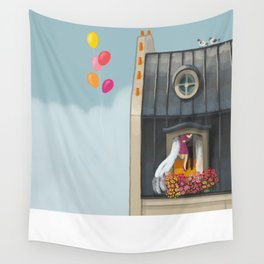 Spring in Paris Wall Tapestry