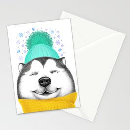 Winter Husky Stationery Cards