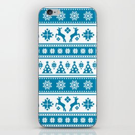 Christmas Holiday Nordic Pattern Cozy iPhone Skin