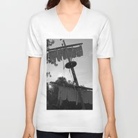 pirate ship V-neck T-shirts featuring Pirate Ship by Yellow Tie