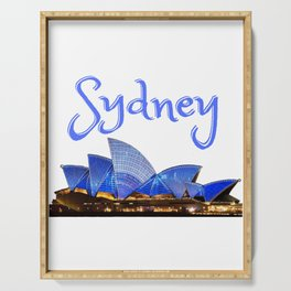 Sydney Opera House, Australian patriotic birthday gift. Australian Independence day, Anzac day Serving Tray