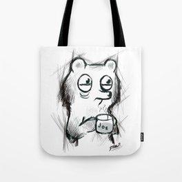 cup of joe caffeinated bear Tote Bag