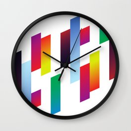 Color Rods Wall Clock