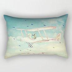 Never Stop Exploring III Rectangular Pillow