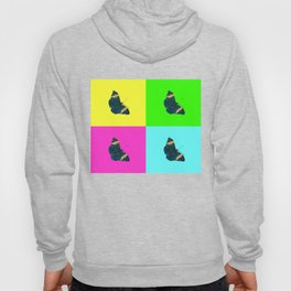 Butterfly on coloured backgrounds (2) Hoody