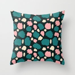 abstract paint swatches Throw Pillow