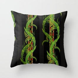 tropical snake vine Throw Pillow