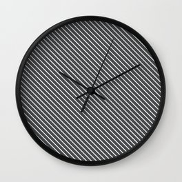 Dark Shadow Stripe Wall Clock