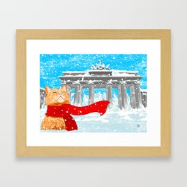 Berlin Snowcat Framed Art Print