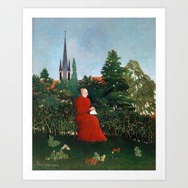 Henri Rousseau - Portrait of a Woman in a Landscape Art Print