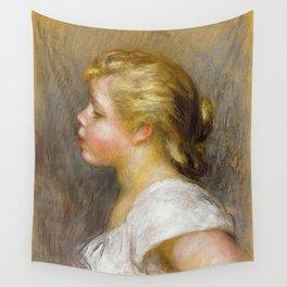 "Pierre-Auguste Renoir ""Jeune fille de profil (Young girl in profile)"" Wall Tapestry"