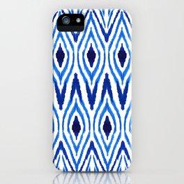 Ikat Blue iPhone Case