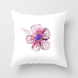 Little Lilac Flower Throw Pillow