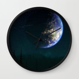 Out of this world #forest Wall Clock