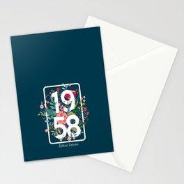 1958 Cadeau Anniversaire Année de Naissance, Année 1958 Fête 63 Ans, pour Femme Stationery Cards