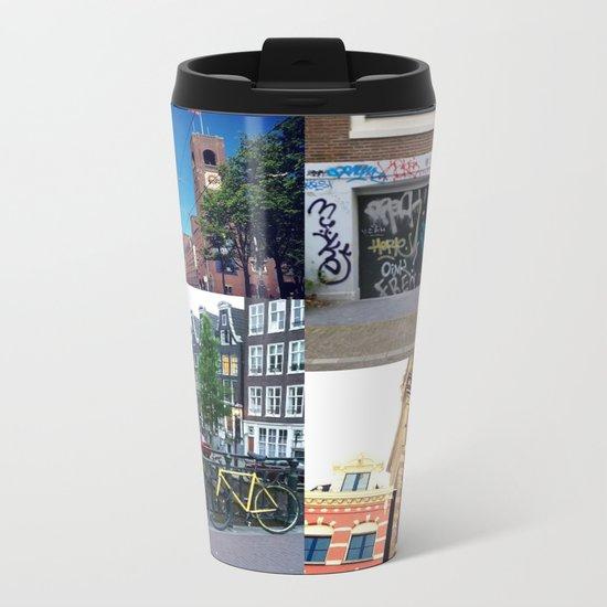 Photo collage Amsterdam 4 Metal Travel Mug