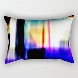 Damaged Polaroid Film Rectangular Pillow