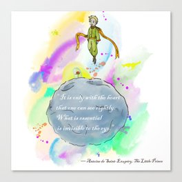 Little Prince World Canvas Print