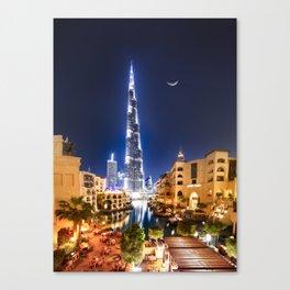1001 DREAM IN DOWNTOWN DUBAI Canvas Print