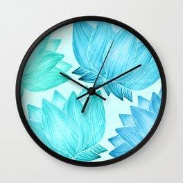 Lotus Love II / Zen Teal Palette Wall Clock