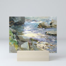 Stream and Rocks by John Singer Sargent, 1901 Mini Art Print