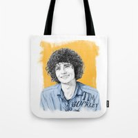 tim shumate Tote Bags featuring Tim Buckley by Daniel Cash