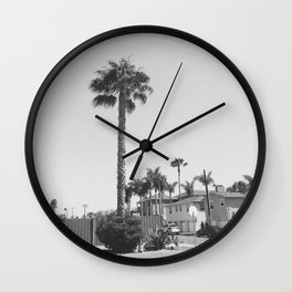 Oceanside Palm Tree Wall Clock
