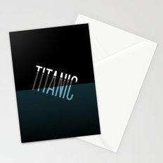Going down..... Typographic Titanic Stationery Cards