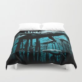 Whale Forest Duvet Cover