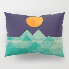 The ocean, the sea, the wave - night scene Pillow Sham