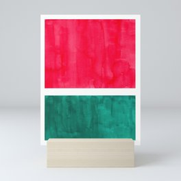 Rothko Minimalist Colorful Pop Art Mid Century Modern Bright Colors Watermelon Red Green Mini Art Print