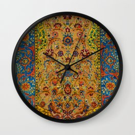 Hereke Vintage Persian Silk Rug Print Wall Clock