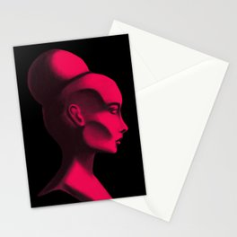 Red Cameo Stationery Cards