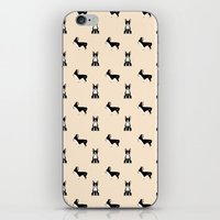 boston terrier iPhone & iPod Skins featuring Boston Terrier by Luiza Sequeira