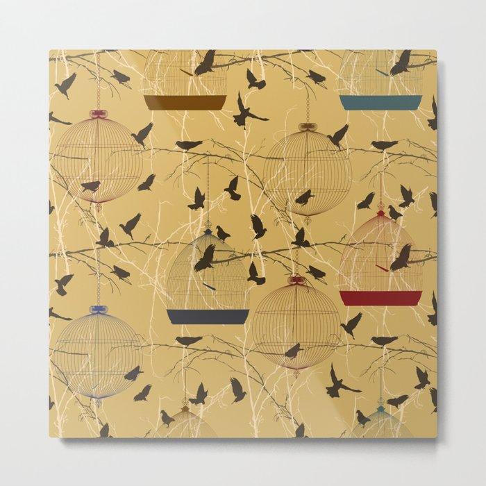 Seamless birdcage composition Metal Print