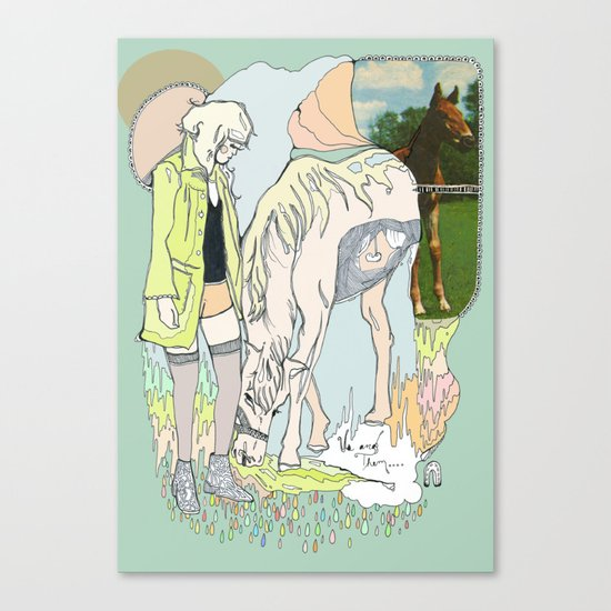 Us and Them: candy (horses) Canvas Print