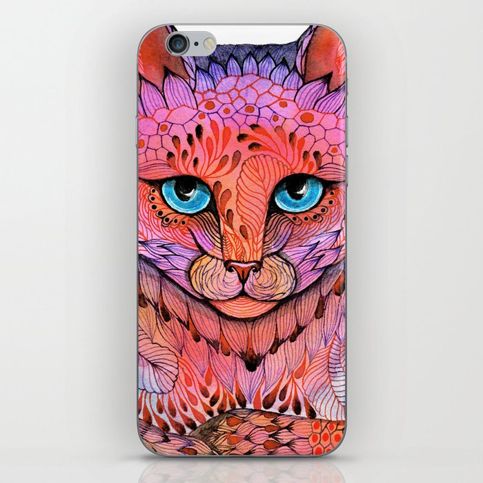 SUNSET CAT iPhone Skin
