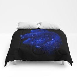 Blue Ursa Comforters